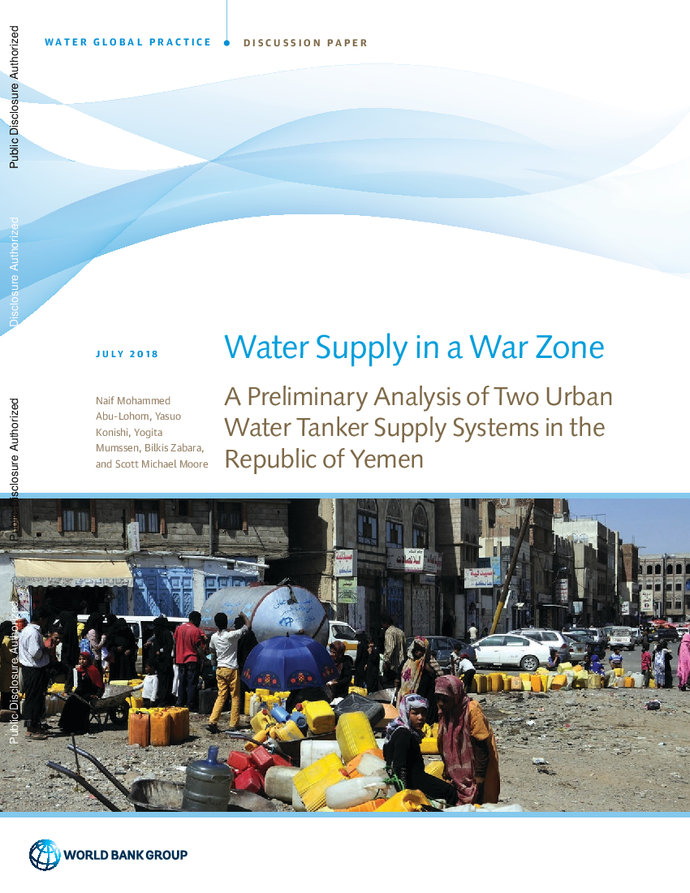 Water Supply in a War Zone : A Preliminary Analysis of Two Urban