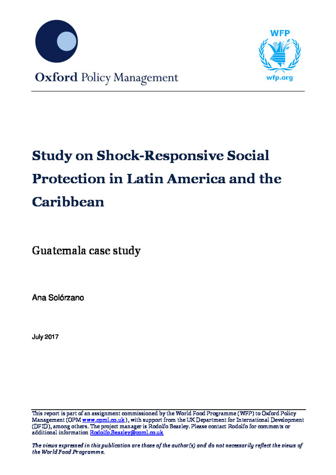 Study on shock - Responsive social protection in Latin