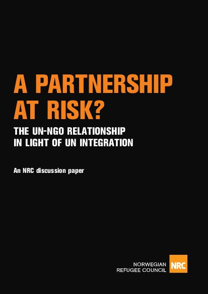 A Partnership at Risk? The UN-NGO Relationship in Light of