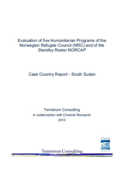 Evaluation of five Humanitarian Programs of the Norwegian