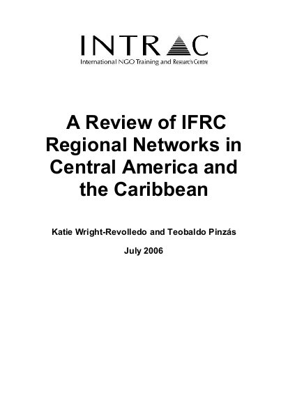 A Review of IFRC Regional Networks in Central America and