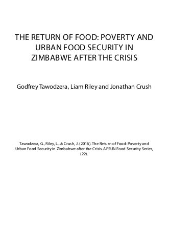 The Return of Food: Poverty and Urban Food Security in