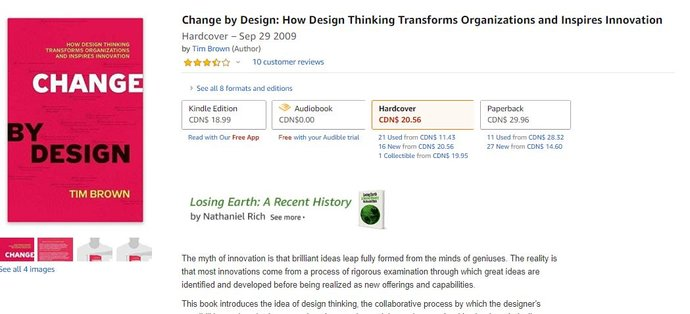 Change By Design How Design Thinking Transforms Organizations And Inspires Innovation Alnap