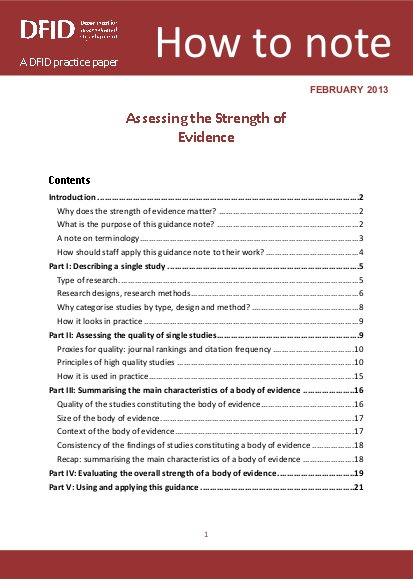 a dfid practice paper
