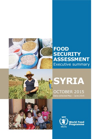 Syria: Food Security Assessment - Executive Summary | ALNAP