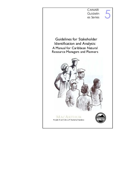 Guidelines for Stakeholder Identification and Analysis: A