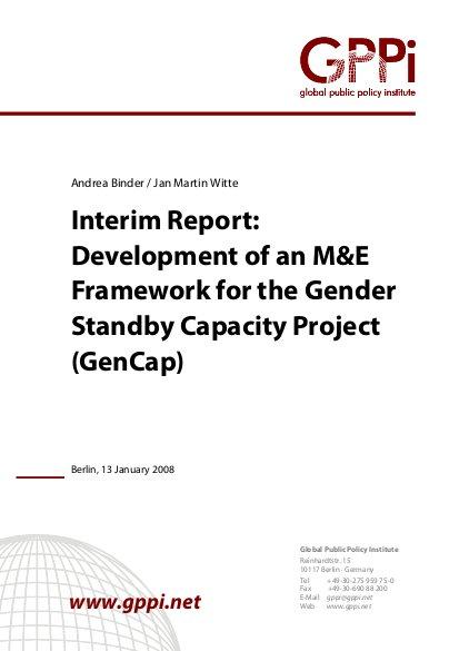 Interim Report: Development of an M&E Framework for the
