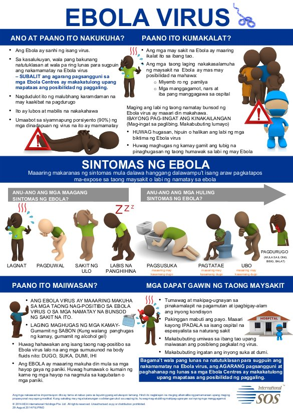Ebola Awareness Poster - Filipino | ALNAP
