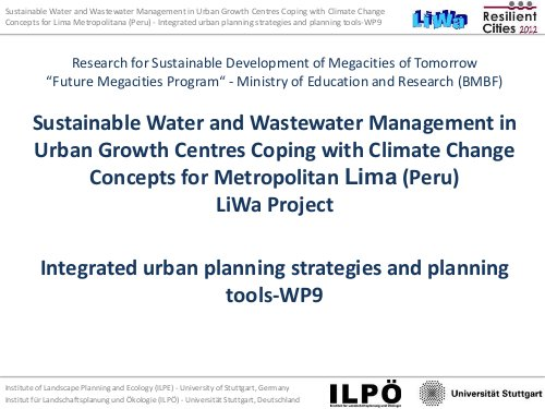 Integrated urban planning strategies and planning tools | ALNAP