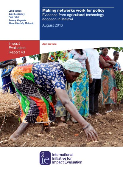 Making networks work for policy: evidence from agricultural
