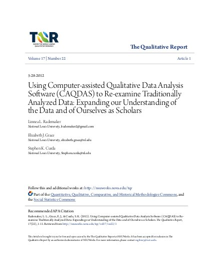 Using Computer-assisted Qualitative Data Analysis Software